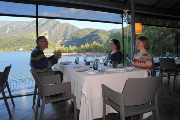 Hotel Terradets eten met uitzicht